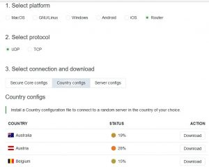 ProtonVPN Server Configs