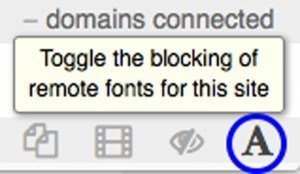 uBlock Origin Web Fonts Toggle